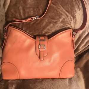 Croft and barrow handbag peach blush and silver
